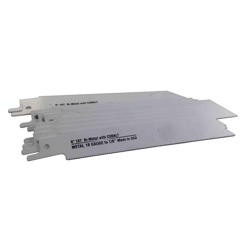 6 X 18TPI Blu MolR Bi Metal Reciprocating Saw Blade 10 Pack