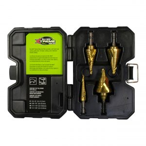 4 Piece Spiral Step Drill Premium Kit