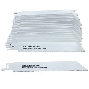 6 x 3/4 x .035-Inch Blu-Mol Bi-Metal Reciprocating Saw Blades, Metal Cutting, 18 Teeth Per Inch, 150 x 20 x 0.90mm, 50 Count