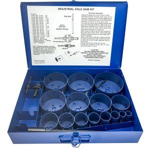 Boxed Blu-Mol Bi-Metal Hole Saw Kits, 20-Piece Industrial Kit