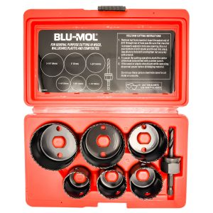 Blu-Mol Carbon Steel Hole Saw Kits Carbon Kit 7 Piece
