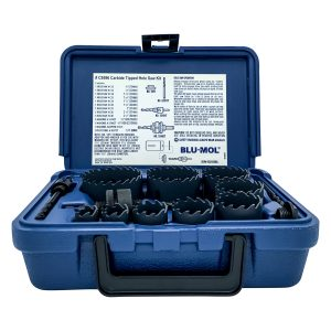 Blu-Mol Carbide Tipped Hole Saws Boxed 13 Piece Kit